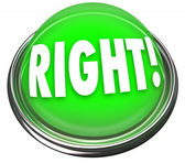 Right Green Button Light Flashing Correct Answer — Foto Stock