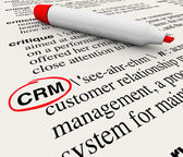 CRM Customer Relationship Management Dictionary Definition — 图库照片