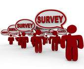 Survey Focus Group Customers Answering Questions — Stock Photo