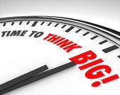 Temps de penser à remue-méninges de grande horloge créativité innovation — Photo