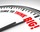 Time to Think Big Clock Creativity Innovation Brainstorming — 图库照片