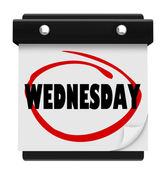 Wednesday Hump Day Wall Calencar Word Circled — Foto de Stock