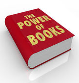 The Power of Books Words on Book Cover Importance Reading — Stock Photo