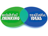 Wishful Thinking Realistic Ideas Venn Diagram — Stock Photo