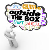 Outside the Box Thinking Person Creativity Innovation — Stock Photo