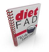 节食时尚畅销书的饮食时尚书 — 图库照片