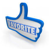 Favorite Word Blue Thumb's Up Social Media — Stock Photo