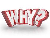 Pourquoi word lettres 3d point d'interrogation — Photo