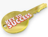 Key to Success Open Successful Career Life — Stock Photo