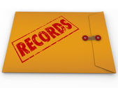 Records Documents Yellow Confidential Document — Stock Photo