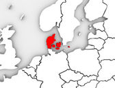 Denmark Illustrated Abstract 3D Map Northern Europe — Stock Photo