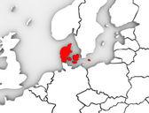 丹麦说明抽象 3d 地图欧洲北部 — 图库照片