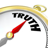 Truth Word Compass Conscience Lead to Honesty Sincerity — Stock Photo