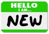 Bonjour je suis stagiaire de recrue nouvelle étiquette autocollant — Photo