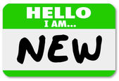 Hello I am New Nametag Sticker Rookie Trainee — Stock Photo