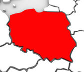 Poland Abstract 3D Map Northern Eastern Europe — Stock Photo
