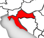 Croatia Country Abstract 3D Map Eastern Europe — Stock Photo