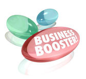 Business Booster Vitamins Increase Sales Success — Stock Photo