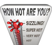 How Hot Are You Words Thermometer Attractive Sexy — Zdjęcie stockowe