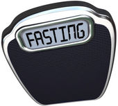 Fasting Word 5-2 Diet Fad Scale Overweight — Stock Photo