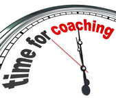 Time for Coaching Clock Mentor Role Model Learning — Stock Photo