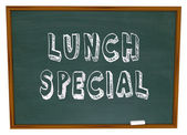 Lunch Special - Words on Restaurant Chalkboard Advertising — Stock Photo
