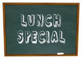Lunch special - ord på restaurang svarta tavlan reklam — Stockfoto