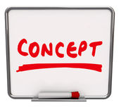 Concept Word Dry Erase Board New Innovative Idea — Stock Photo