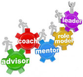 Trener mentora doradca prowadzące do osiągnięcia celów — Zdjęcie stockowe
