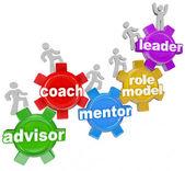 教练顾问导师引领你要实现的目标 — 图库照片