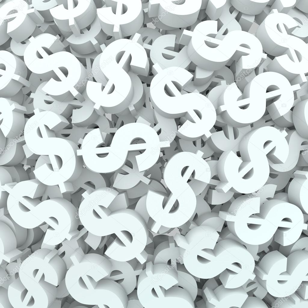 Money Signs Backgrounds a Background of Dollar Signs