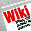Stock Photo: Wiki Website You Provide Answers Public Edited Information
