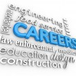 Careers Word Background Jobs 3d Choose Profession — Stock Photo