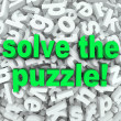 Solve The Puzzle Word Search Jumble Difficult Letter Challenge — Stock Photo #26152447