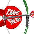 Target Need Bow and Arrow Serving Customers Wants — Stock Photo #26152541