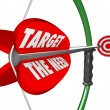 Target The Need Bow and Arrow Serving Customers Wants — Lizenzfreies Foto