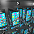 Foto de Stock  : Smart Phone Cellphone Vending Machine Buying Telephone