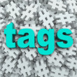 Tags Hashtag Symbol Message Update Background - Foto Stock