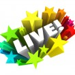 Live Word Stars Fireworks In-Person Performance Appearance — Stock Photo