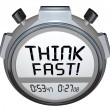Stock Photo: Think Fast Timer Stopwatch Quiz Answer Contest