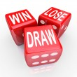 Stock Photo: Win Lose Draw Words Three 3 Red Dice Competition Game
