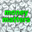 Stock Photo: Money Matters Words Dollar Sign Currency Background