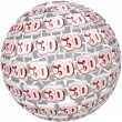 3D Word on Ball Sphere Three Dimensional Effect — Stock Photo #26153161