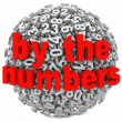 By the Numbers Data Number Sphere Research Intelligence Analysis — Stock Photo