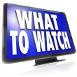 What to Watch HDTV Television Screen Suggestion Guide — Stock Photo #26153761