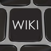 Wiki Computer Key Website Button Edit Information — Stock Photo