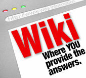 Wiki Website You Provide the Answers Public Edited Information — Stock Photo