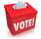 Vote Word Ballot Box Election Democracy — Stock Photo