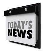 Today's News Calendar Update Information Important Alert — Stock Photo