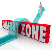 Going Outside Over Comfort Zone Try Different Experience Grow — Stock Photo